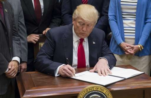 "Donald Trump's order calls for a review of Obama-era oil and gas drilling bans with the goal of allowing ""responsible devel"