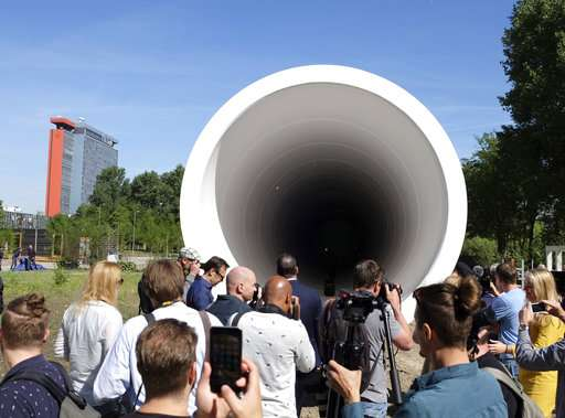 Dutch testing tube unveiled for Hyperloop transport system