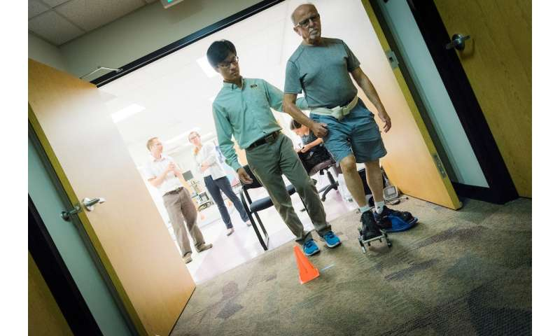Early study shows shoe attachment can help stroke patients improve their gait