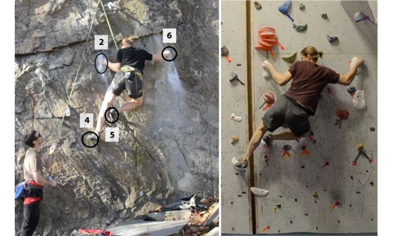 Expert rock climbing routes recreated indoors using 3-D modeling and digital fabrication