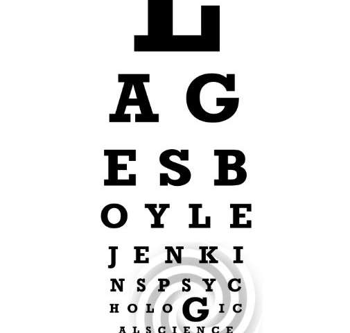 Exposure to a common visual illusion may enhance your ability to read fine print