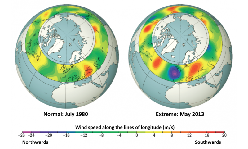 Extreme weather events linked to climate change impact on the jet stream