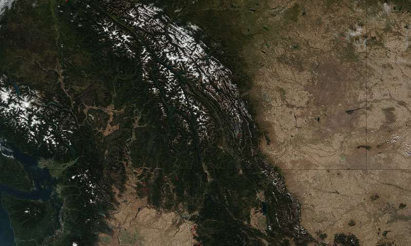 Fires and snow in the Pacific Northwest