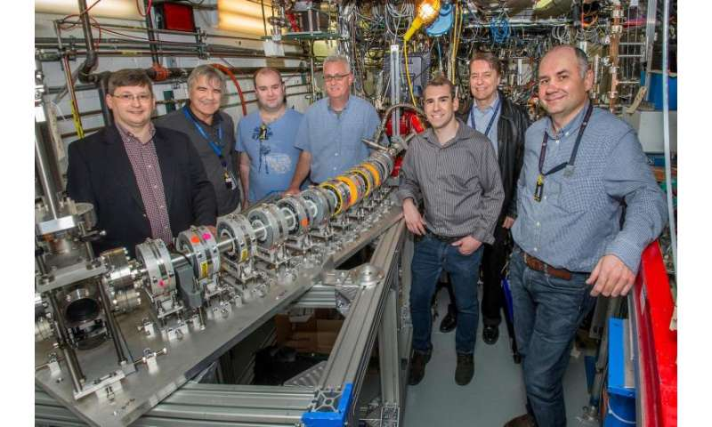 """Fixed-field"" accelerator transports multiple particle beams at a wide range of energies through a single beam pipe"