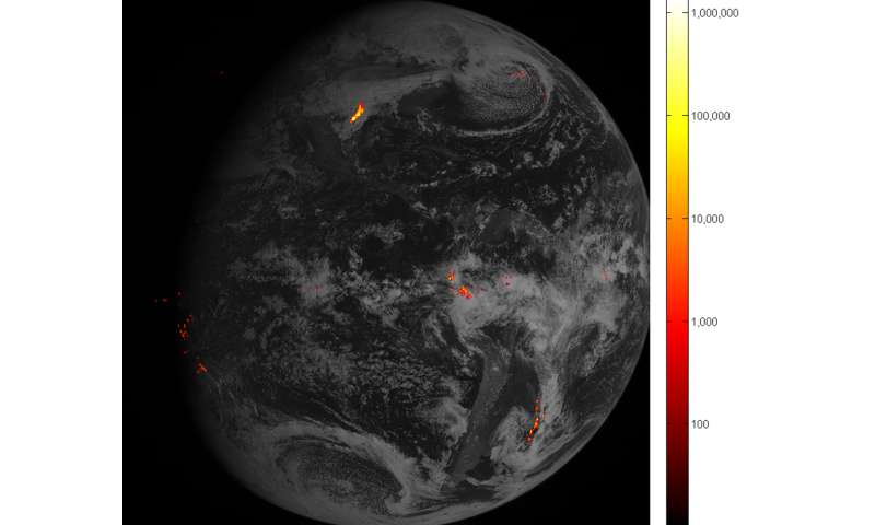 Flashy first images arrive from NOAA's GOES-16 lightning mapper