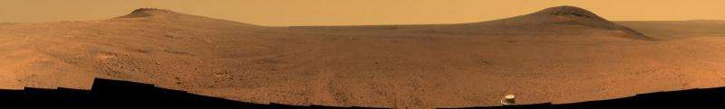 From Mars rover—panorama above 'Perseverance Valley'