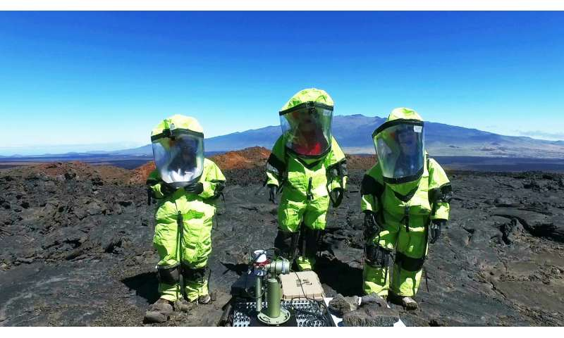 From volcano's slope, NASA instrument looks sky high and to the future