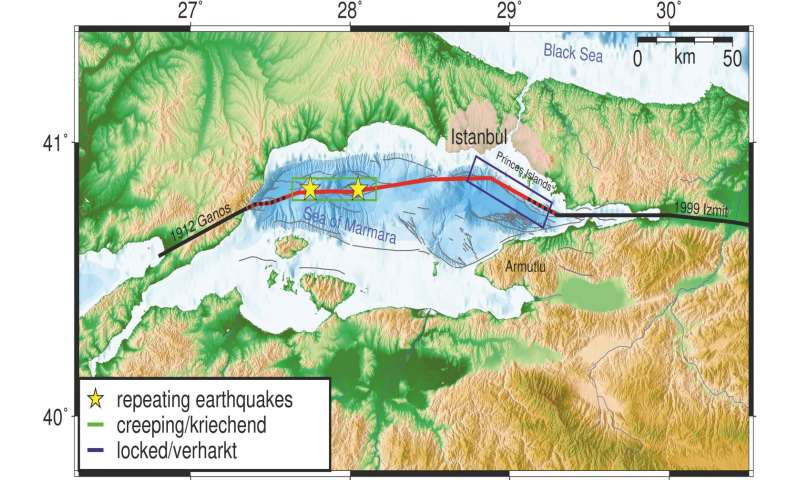 From where will the next big earthquake hit the city of Istanbul?