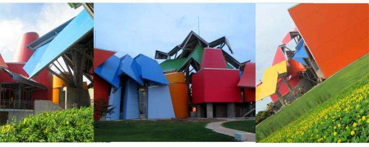 Gehry's Biodiversity Museum -- favorite attraction for the butterflies and moths in Panama