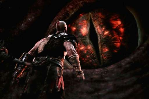 'God of War' for the PS4 is revealed during the Sony Playstation E3 conference at the Shrine Auditorium in Los Angeles, on June