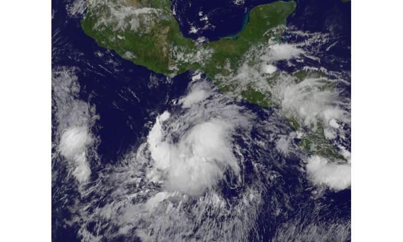 GOES Satellite sees Tropical Depression 09E form