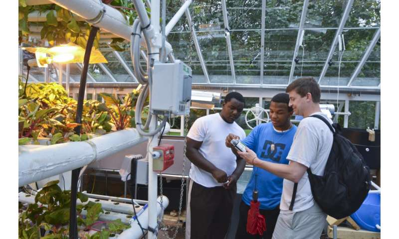 Growing plants and scientists: Hydroponic gardening program wins over students
