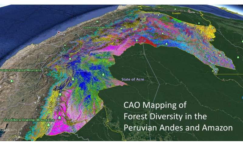 High-tech maps of tropical forest diversity identify new conservation targets