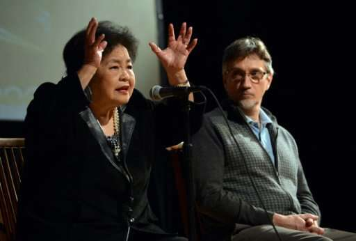 Hiroshima bombing survivor Setsuko Thurlow (L), pictured here in 2012, will jointly accept the Nobel Peace Prize on behalf of th