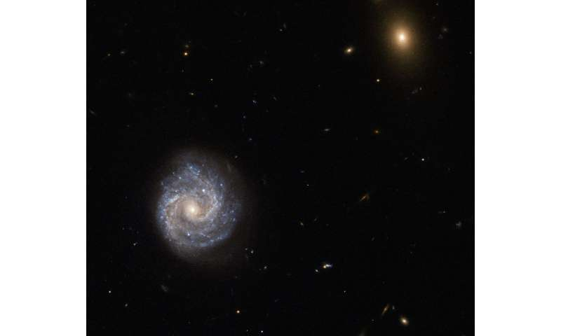 Hubble eyes a powerful galaxy with a password name