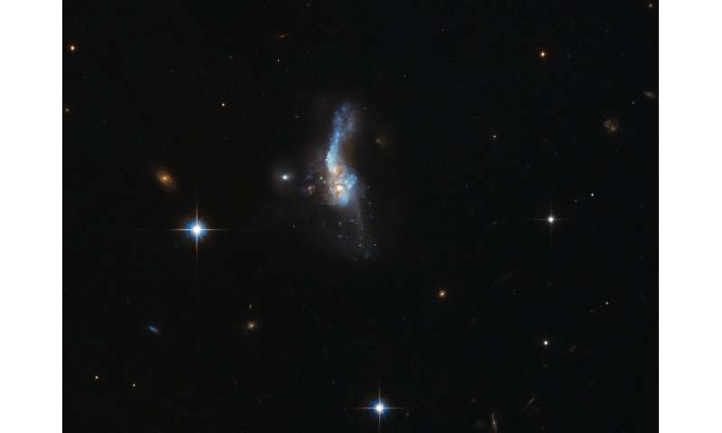 Hubble's front row seat when galaxies collide