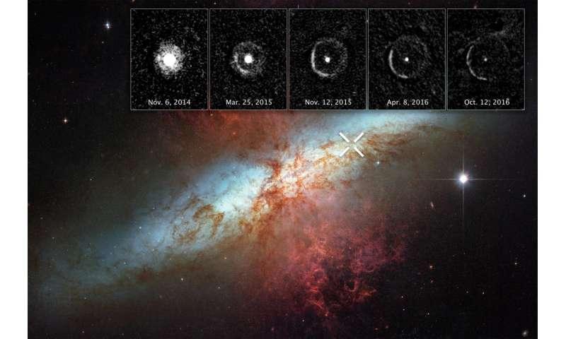 Hubble spots expanding light echo around supernova
