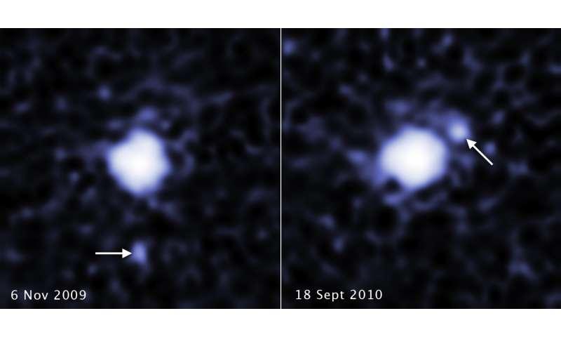 Hubble spots moon around third largest dwarf planet