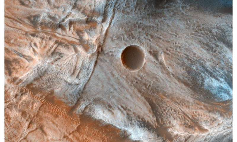 Image: A mass of viscous flow features on Mars