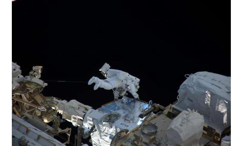 Image: ESA astronaut Thomas Pesquet's first spacewalk