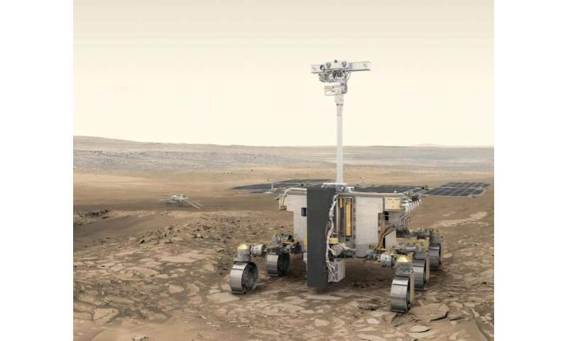 Image: ESA's ExoMars rover and Russia's stationary surface science platform