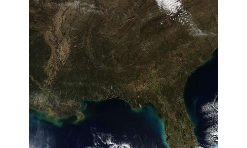 Image: Fires in southeast United States both wild and prescribed