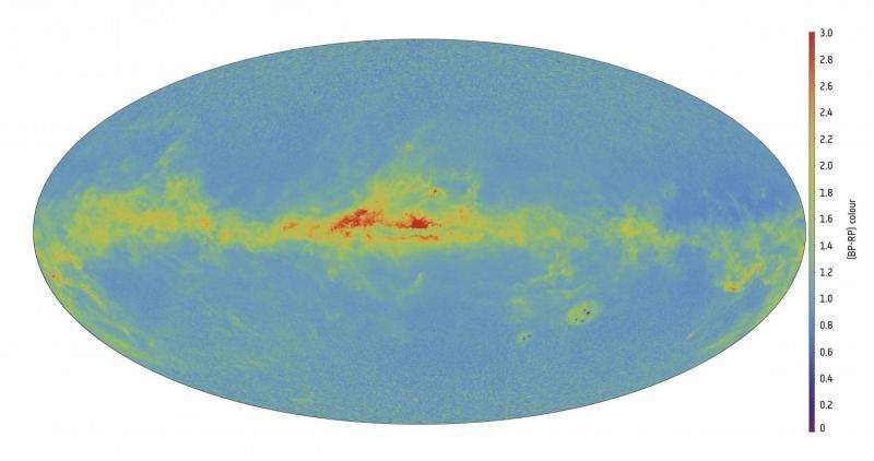 Image: Gaia's first full-colour all-sky map