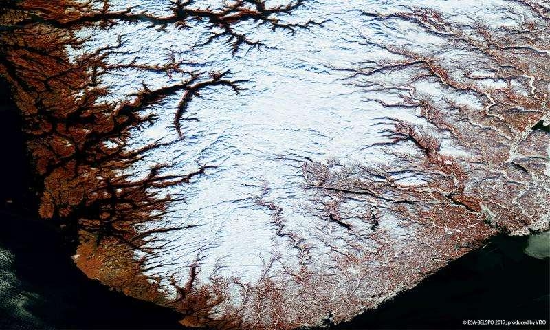 Image: Norwegian fjords captured by Proba-V