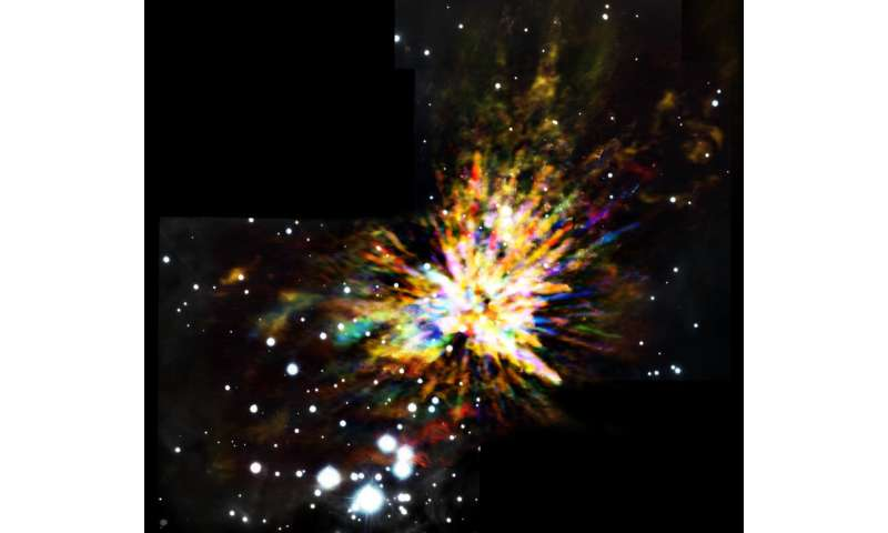 Image release: ALMA captures explosive star birth