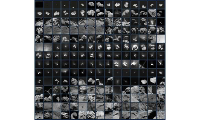 Image: Rosetta's ever-changing view of a comet