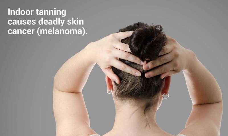 Images of health risks make indoor tanning messages more effective