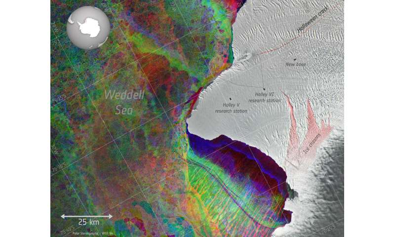 Image: The 'Halloween crack' on Antarctica's Brunt Ice Shelf