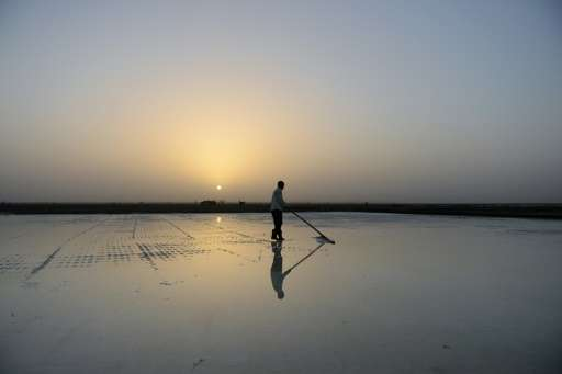 Indian salt pan workers toil in the remote and arid Little Rann of Kutch region for nearly eight months of the year in extreme c