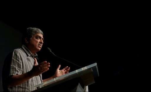 Infosys cofounder Nandan Nilekani, seen in 2014, ran the business from 2002 to 2007 and remains highly respected in the technolo