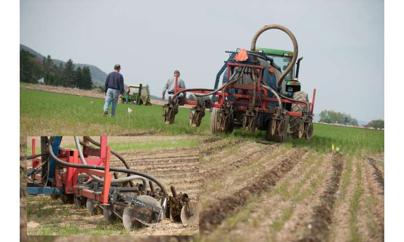 Injecting manure instead of spreading on surface reduces estrogen loads