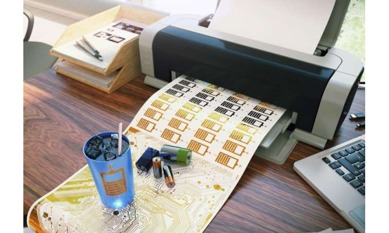 Inkjet-printed batteries bring us closer to smart objects