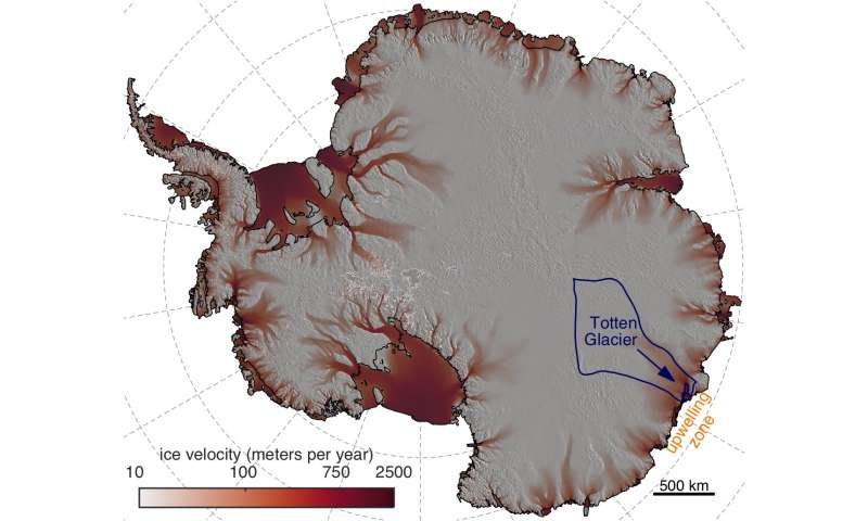 Intensifying winds could increase east Antarctica's contribution to sea level rise
