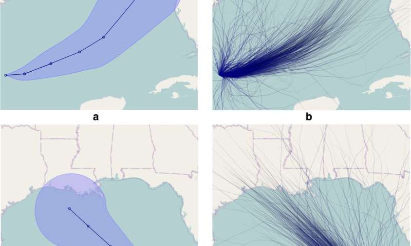 Interpreting hurricane forecast displays can be difficult for general public