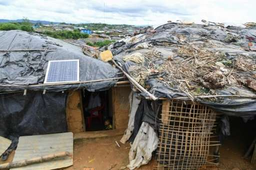 In the absence of mains electricity, the sun is a precious source of energy for the Rohingya now living in camps, where even foo