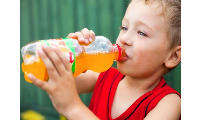 Kids' sugary drink habits start early