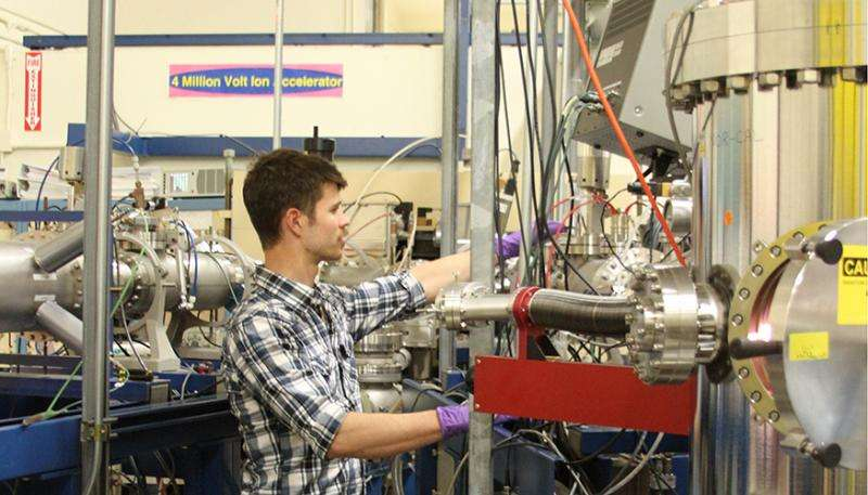 Lab pulsed-ion beam experiments reveal radiation damage processes in silicon