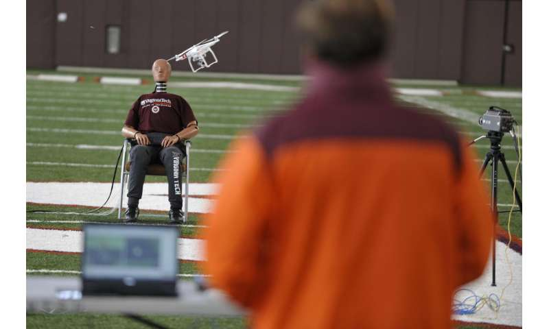 Landmark study suggests risks vary widely in drone-human impacts