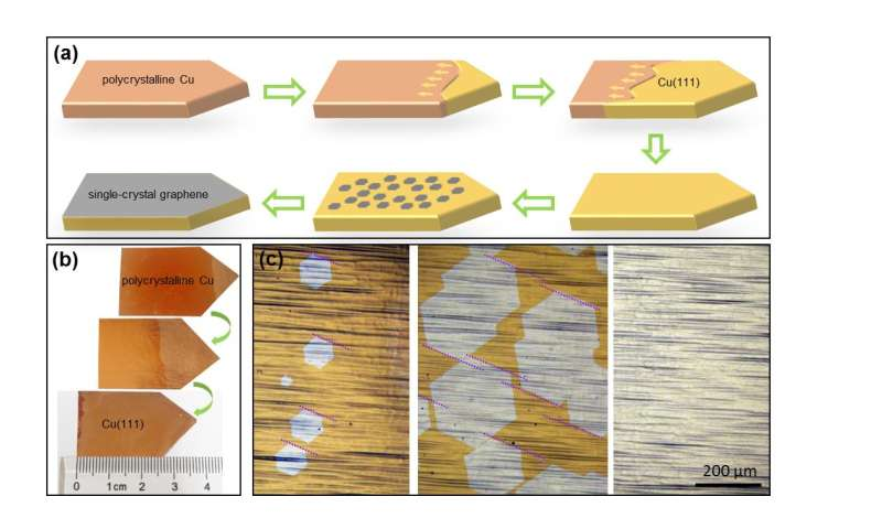 Large single-crystal graphene is possible
