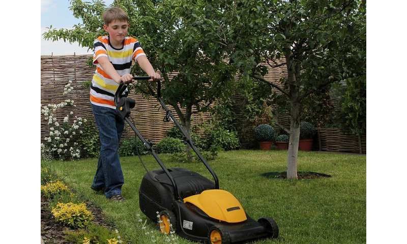 Lawn mowers are risky business for kids