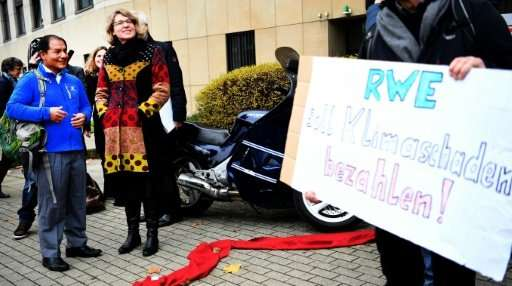 Lliuya argues that RWE must share in the cost of protecting his hometown from a swollen glacier lake at risk of overflowing