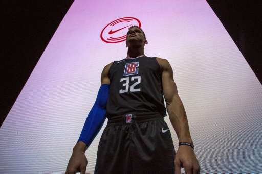 Los Angeles Clippers' Blake Griffin wears one of the new league jerseys representing a new partnership between Nike and the NBA,