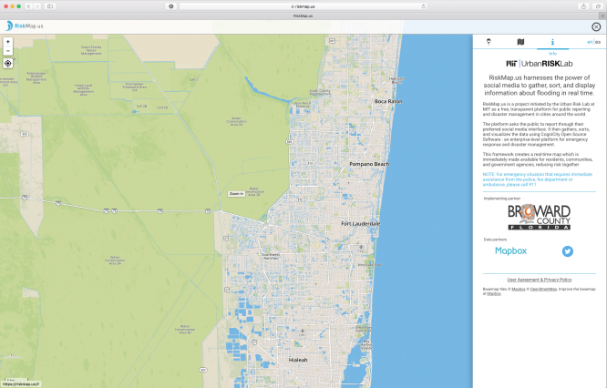 Map offers real-time, crowd-sourced flood reporting during Hurricane Irma