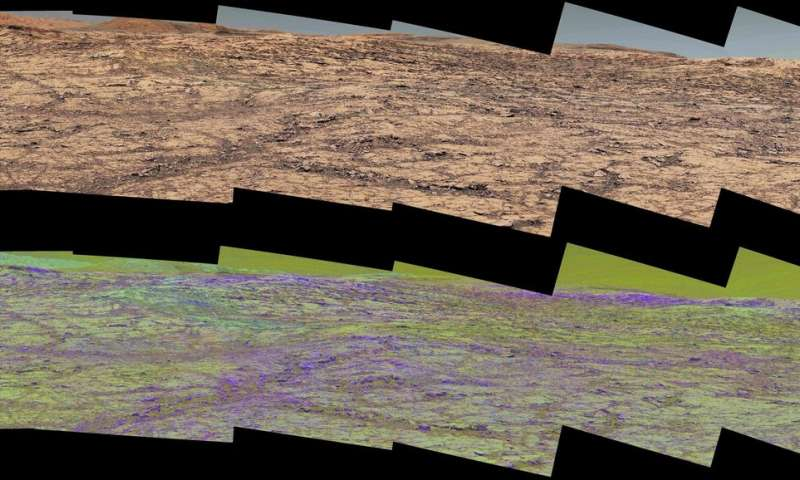 Martian ridge brings out rover's color talents