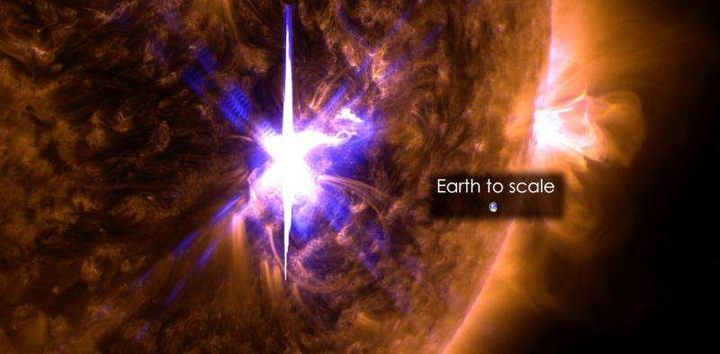 Massive sunspots and huge solar flares mean unexpected space weather for Earth