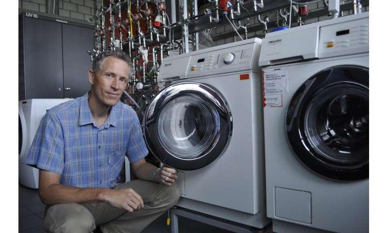 Microplastics from the washing machine